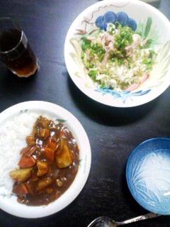 切干大根サラダ&カレーライス
