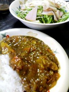 カレーライス・水菜のサラダ