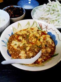 マーボー豆腐・大根と帆立サラダ