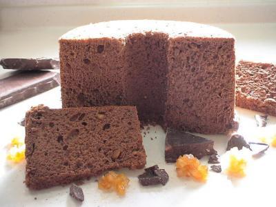 チョコオレンジピールシフォンケーキ1