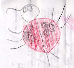 幼児のおえかきテントウムシ