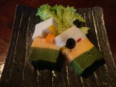 白身魚と有機野菜のテリーヌ