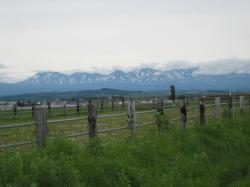 大雪山系の山並み