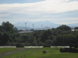 今日の石狩川と大雪山系