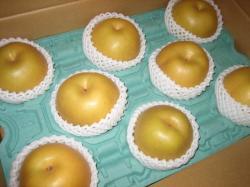 大きな梨が8個です(#^.^#)