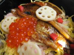 穴子とイクラの散らし寿司♪