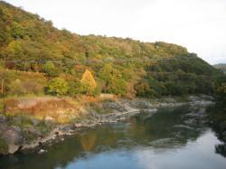 神居古潭の秋風景