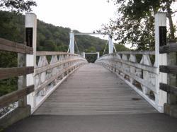 神居古潭の白い橋