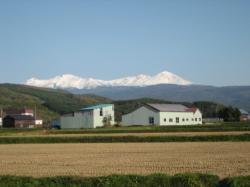 雪で真っ白になった大雪山