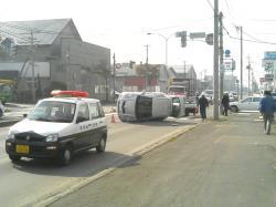 昨年通りかかった事故現場