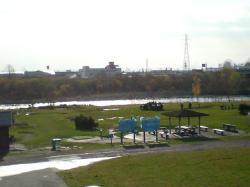 パークゴルフ場も冬季休業