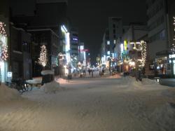雪の買い物公園~旭川~