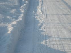 雪が踏み固まって滑りますね~(^^ゞ