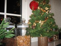 クリスマスツリーもチャイナ風?