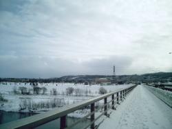 左側には伊の沢スキー場
