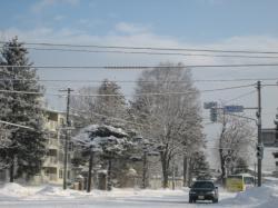 旭川の冬風景