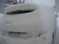 すっかり雪にくるまれて・・・