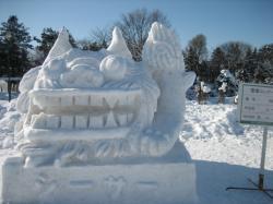 雪のシーサー(!o!)