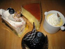 プリン・チーズのケーキ2種・ガトーショコラ