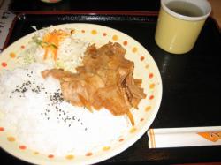 金曜日の豚バラB しょうが焼き(少な目)500円