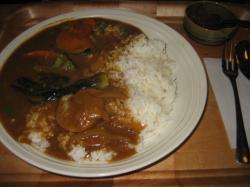 ランチセットの野菜カレー