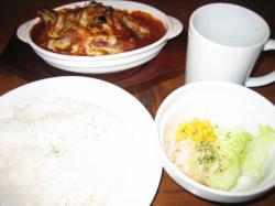 ハンバーグ(サラダ・ライス・スープつき)