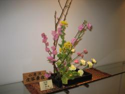 2F 春の花がいけられていました(^^)