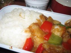 揚げた白身魚と野菜のあんかけ