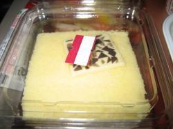クリームサンドのスポンジケーキ