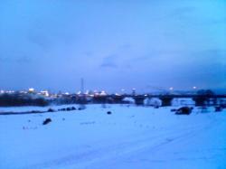 夕方6時前の旭川
