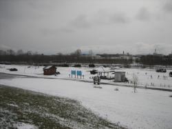パークゴルフ場にも雪