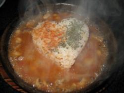 熱々のスープごはん?