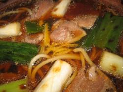 鴨肉とあぶったネギがおいしい(^^)