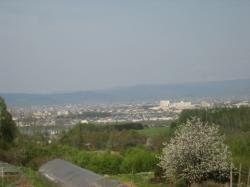 富沢の丘から見た旭川