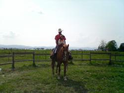 親子で乗馬♪