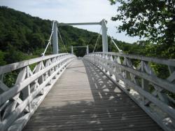 吊り橋を渡って・・・