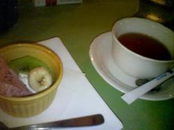 紅茶とドルチェでコース終了