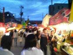 上川神社例大祭の露店