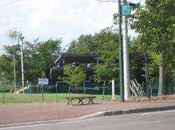 公園には蒸気機関車がありました