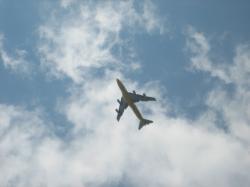 新千歳空港が近いので、飛行機が間近に♪