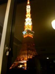 ホテルの部屋 目の前が東京タワー!!
