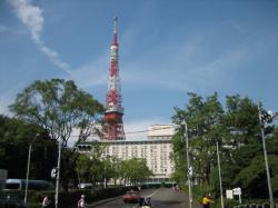 東京プリンスホテルと東京タワー