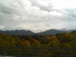 雪と雲が重なって・・・