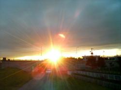 昨日の旭川の夕陽