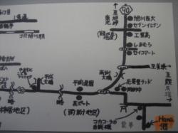 Hana悠までの地図