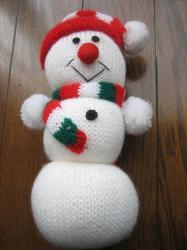 編みぐるみの雪だるま