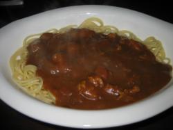 残ったカレーでカレースパゲティ