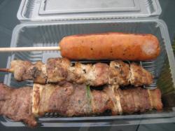 チーズフランク、鶏串、牛串