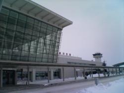 寒さ厳しい中の旭川空港