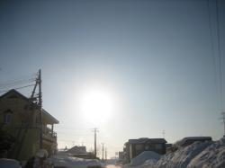連日寒い朝の旭川